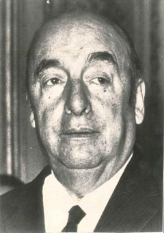 Neruda - Original Vintage Photograph - 1971