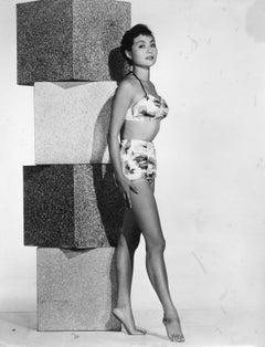 Nobu Atsumi McCarthy Posed in Swimsuit Vintage Original Photograph