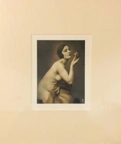 Nude-Historic Silver Print Photograph. Paris, France.