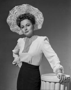 Olivia de Havilland in Brimmed Hat Movie Star News Fine Art Print