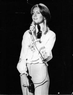 Olivia Newton John with Microphone Vintage Original Photograph
