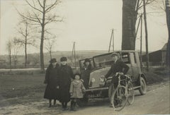 On the Road near Paris 1930 - Silver Gelatin Black and White Photograph