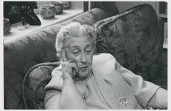 On the sofa with Agatha Christie, Celebrity Photograph