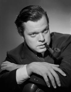 Orson Welles Dramatic Portrait with Pipe Movie Star News Fine Art Print