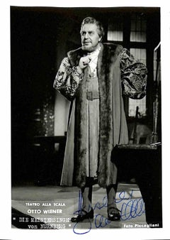 Otto Wiener Autographed Photograph - Late 20th Century