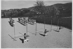 Outdoor Physical Education during Fascism in Italy - b/w Photo - 1930 c.a.