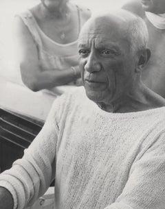 Pablo Picasso Candid in Sweater Fine Art Print