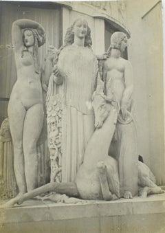 Paris, Decorative Art Exhibition 1925 Art Deco Sculpture  - B & W Photograph