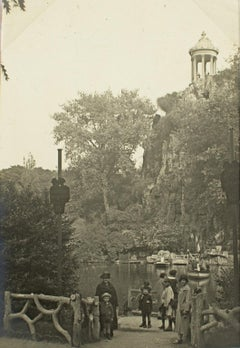 Paris, The Buttes Chaumont, 1930 - Silver Gelatin Black and White Photograph
