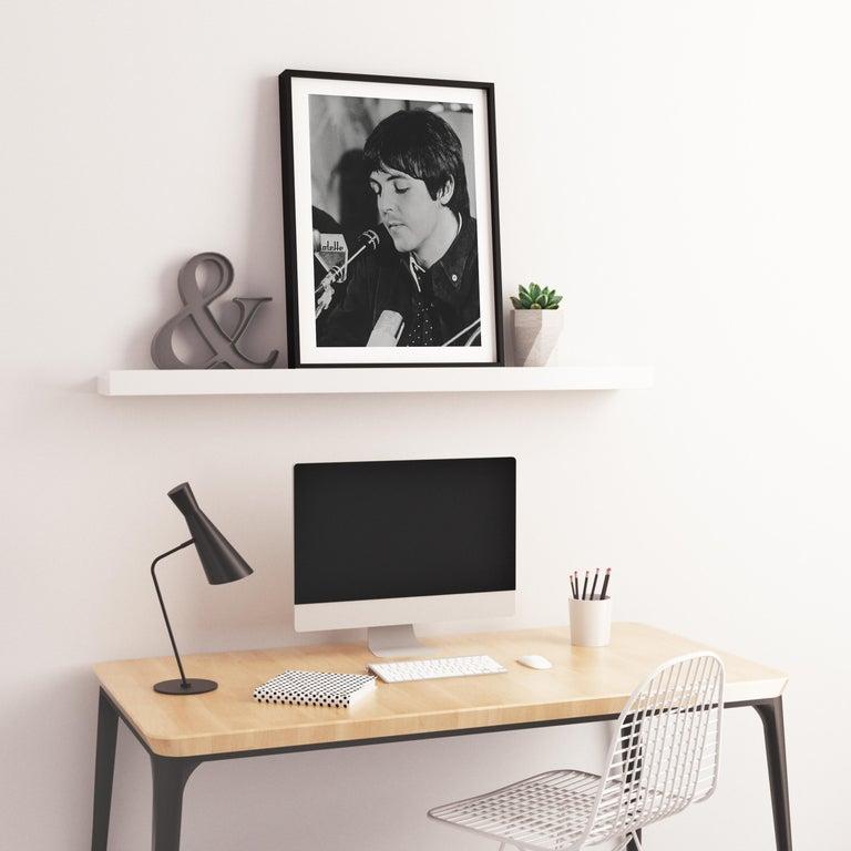Paul McCartney Being Interviewed Fine Art Print For Sale 2