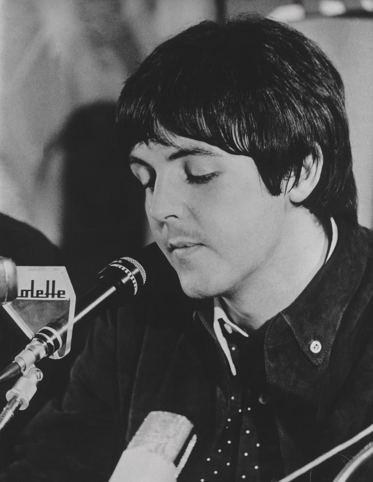 Unknown Black and White Photograph - Paul McCartney Being Interviewed Fine Art Print