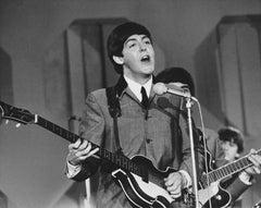 Paul McCartney on the Ed Sullivan Show Fine Art Print