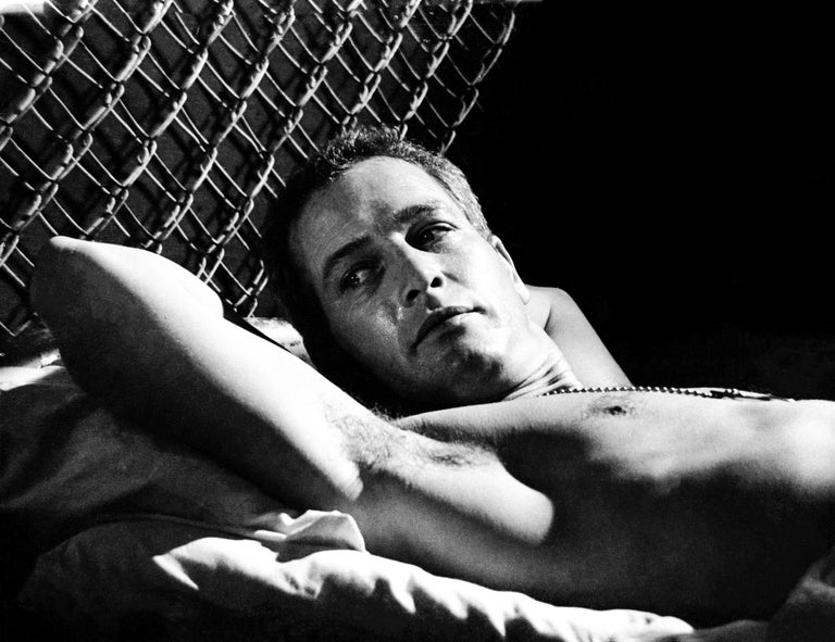 Unknown Black and White Photograph - Paul Newman Reclining Fine Art Print