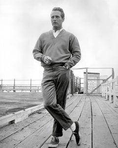 Paul Newman Standing on Dock Globe Photos Fine Art Print