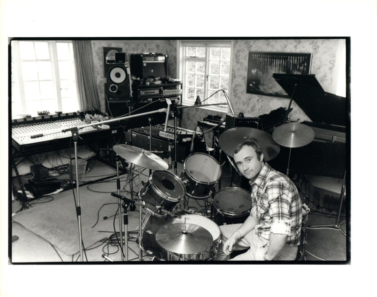 Unknown Phil Collins With Drumset Vintage Original Photograph