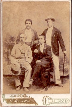 Photo portrait of Gentlemen - Florence 1896