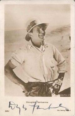 Photo-postcard with Portrait and Autograph by Douglas Fairbanks - 1930 ca.