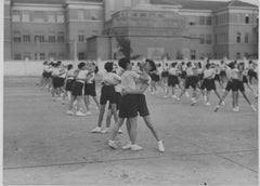 Physical Education at School during Fascism in Italy - B/w Photo - 1934 c.a.