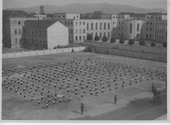 Physical Education in a School During Fascism - Vintage b/w Photo - 1934 c.a.