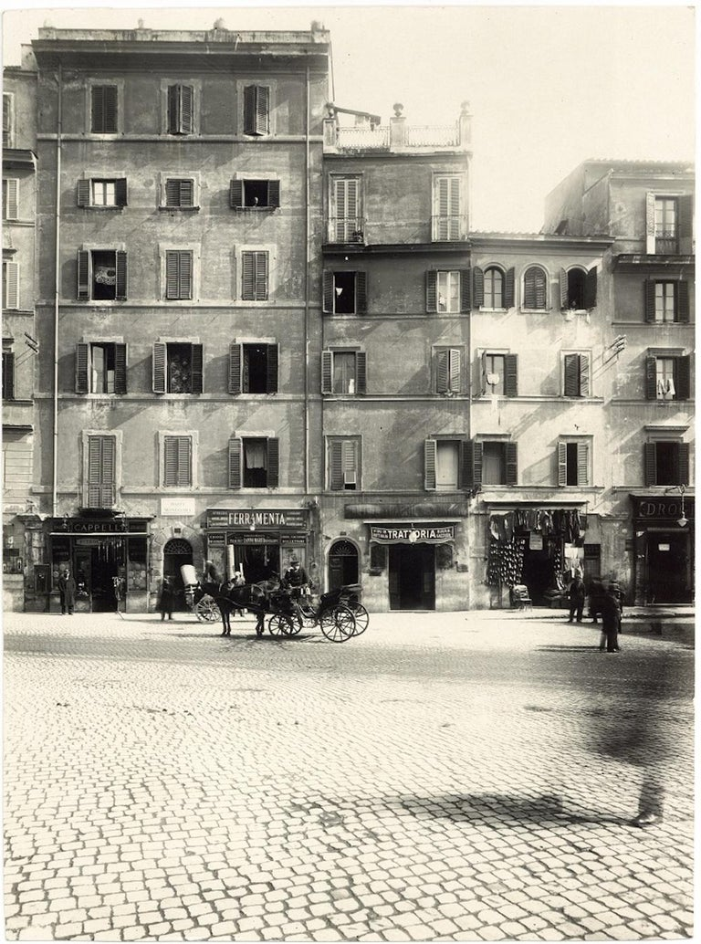 Piazza Montanara - Disappeared Rome - Two Rare Vintage Photos Early 20th Century - Photograph by Unknown