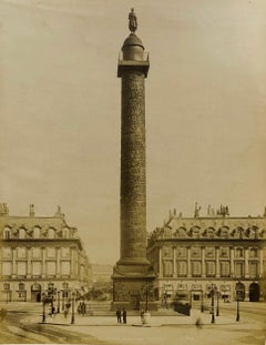 Place Vendôme - Place Louis-le-Grand - Albumen Photographic Print - Circa 1880s