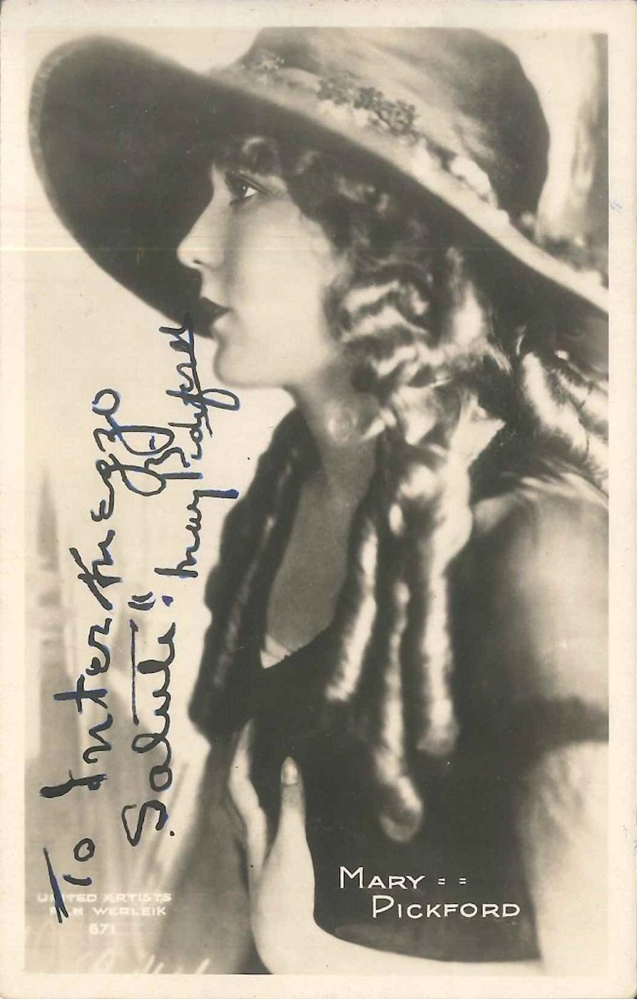 Portrait and Autograph of Mary Pickford - 1946 ca.