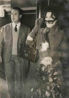 Portrait of Anna Magnani - Vintage B/W photo - Mid 20th Century