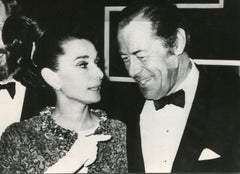 Portrait of Audrey Hepburn and Rex Harrison - b/w Photograph - 1960s