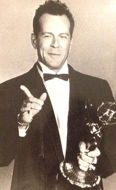 Portrait of Bruce Willis - Vintage b/w Photograph - 1987