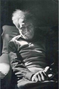 Portrait of Ezra Pound - Vintage B/W photo - 1970s