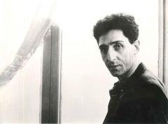 Portrait of Franco Battiato - Original b/w Photograph - 1980s