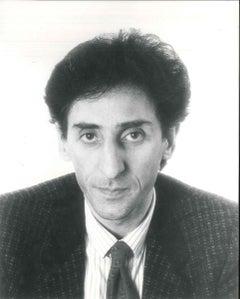 Portrait of Franco Battiato - Vintage b/w Photograph - 1980s