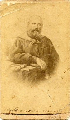Portrait of Garibaldi - Original Albumen Print with Hand-Written Notes - 1860/70