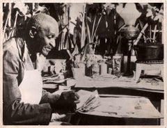 Portrait of George Washington Carver - Vintage B/W photo - 1940s