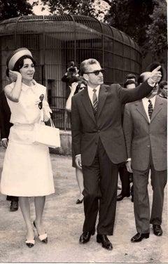 Portrait of Mohammad Reza Shah, King of Iran - Vintage B/W photo - 1970s