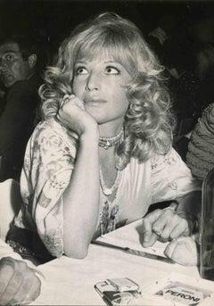 Portrait of Monica Vitti - Vintage B/W photo - 1970s