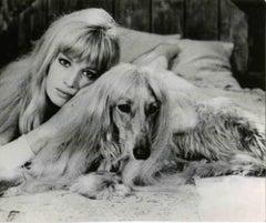 Portrait of Monica Vitti- Vintage Black and White Photo - 1960s