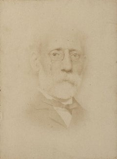 Portrait of Painter Carlo Ferrari - Original Original Photograph - 1870