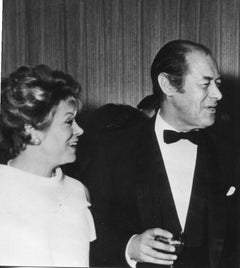 Portrait of Rex Harrison and his Wife - Vintage b/w Photograph - 1960s