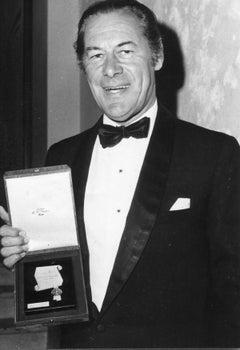 Portrait of Rex Harrison - Vintage b/w Photograph - 1965