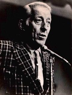 Portrait of Stan Kenton - Vintage B/W photo - 1960s