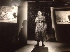 Portrait of the Art Historian Federico Zeri - b/w Photograph - 1980s