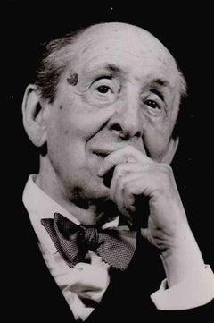 Portrait of Vladimir Horowitz - Vintage B/W photo - 1985
