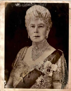 Portrait Queen Mary - B/W photographic - Early 20th Century