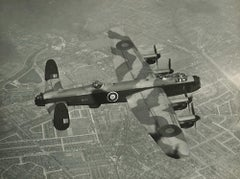 RAF Avro Lancaster Bomber photograph from A V Roe Mk III RE172 flying