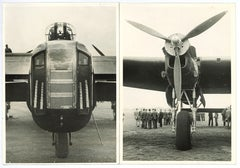 RAF Lancaster Bomber World War 2 Black & White photographs passed censor 1942