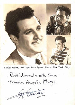 Ramón Vinay Autographed Photograph - 1940s
