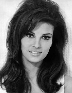 Raquel Welch Close Up and Smiling Globe Photos Fine Art Print