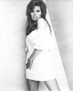 Raquel Welch Pinup in White Mini Dress Vintage Original Photograph