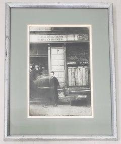 """Rare Silver Gelatin Photograph """"Jewish Deli, Poland"""" c.1930"""